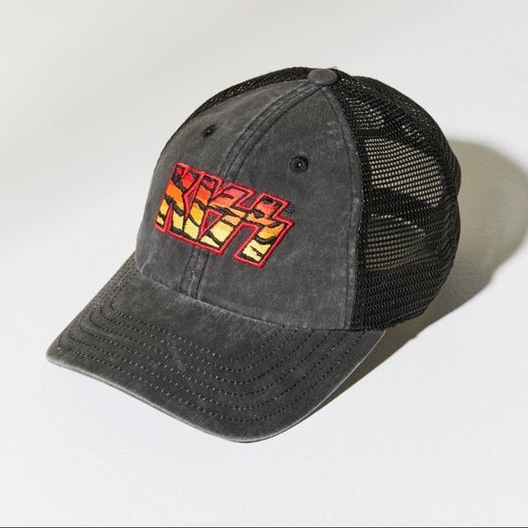 Kiss Baseball Cap Cott Adjustable Cap New Official Tag Red On White Logo